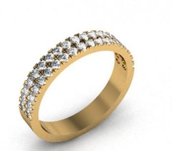 Кольцо из красного золота с бриллиантами