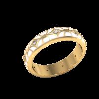 Кольцо из красного золота с бриллиантами и эмалью