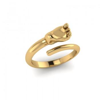 """Кольцо из красного и белого золота """"Ножка"""""""